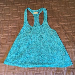 SO   Blue lace tank top